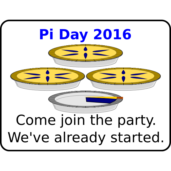Pi Day 2016
