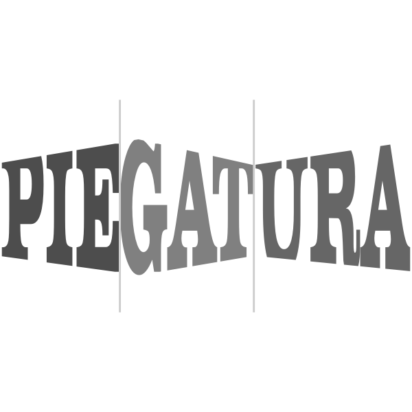 Piegatura text logo design