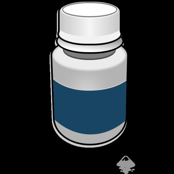 Pill bottle vector clip art