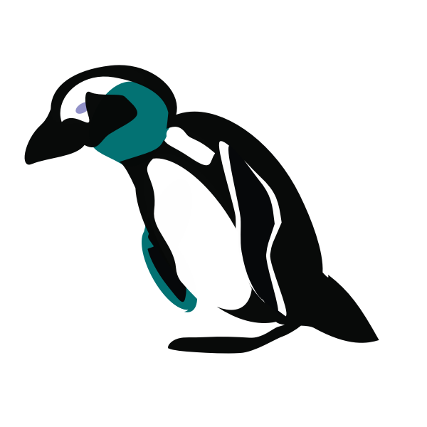 Penguin silhouette graphics