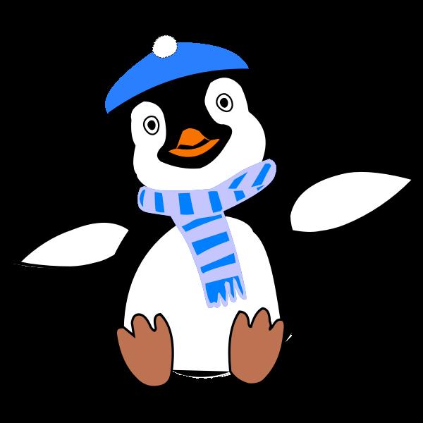 Pinguin im Winter