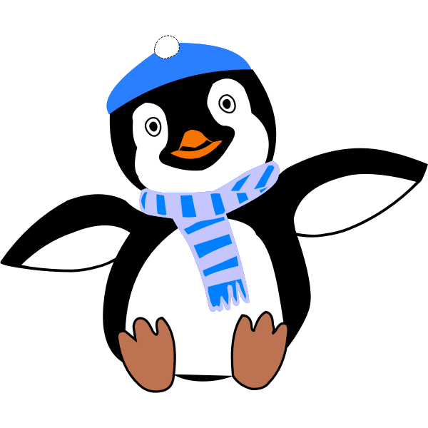 Pinguin im Winter