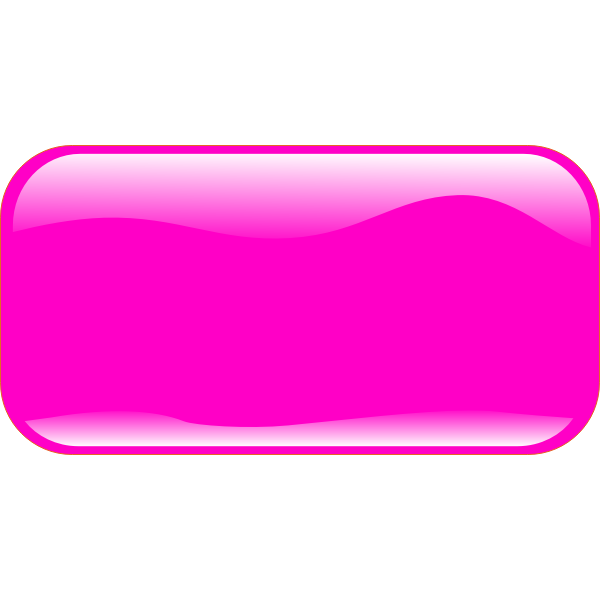 Horizontal rectangle shape pink button vector clip art