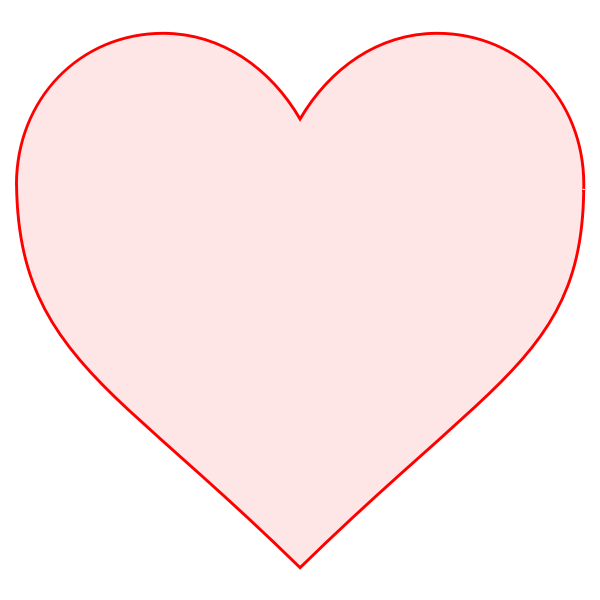 Pink heart with red border vector image