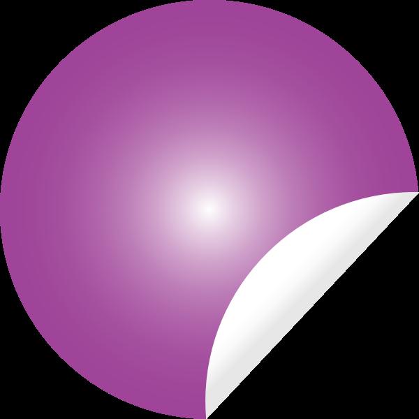 Pink Peeling Sticker