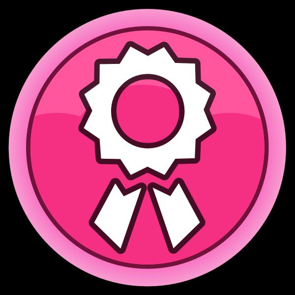 Pink reward button