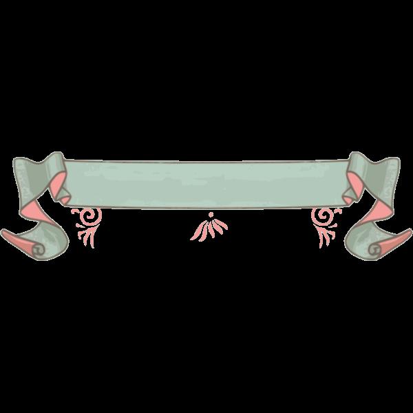 Pink and green decorative ribbon clip art