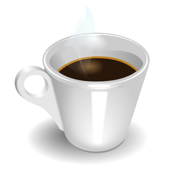 Cup of espresso vector