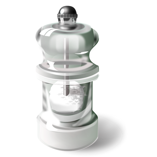 Vector image of salt mill