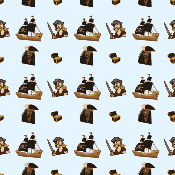 Pirate seamless pattern