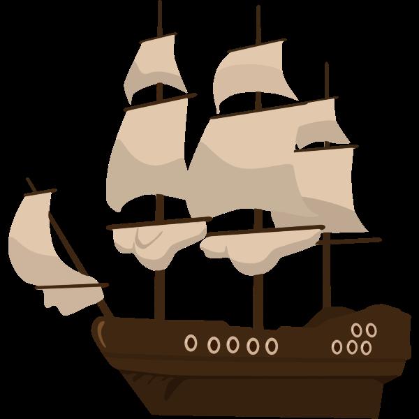 Classical retro ship