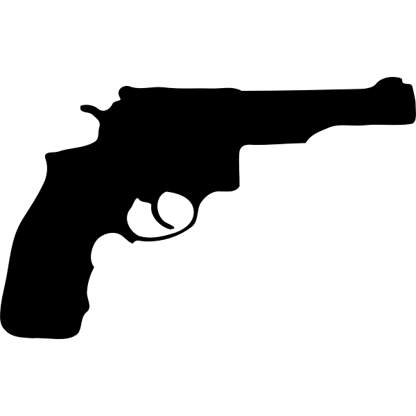 Revolver silhouette vector illustration