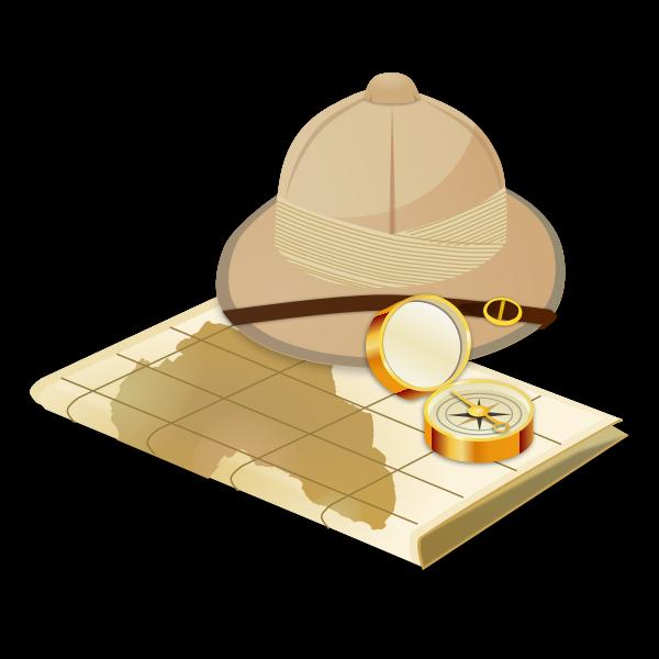 Vector image of safari tools