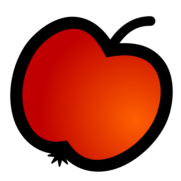 Vector image of apple fruit icon