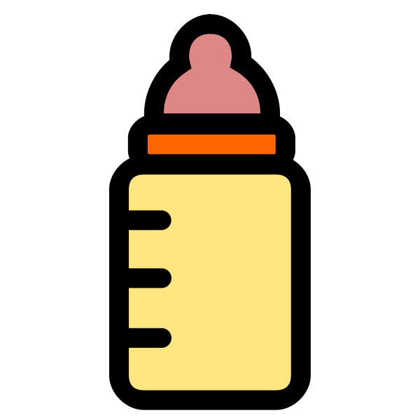 Vector baby bottle icon