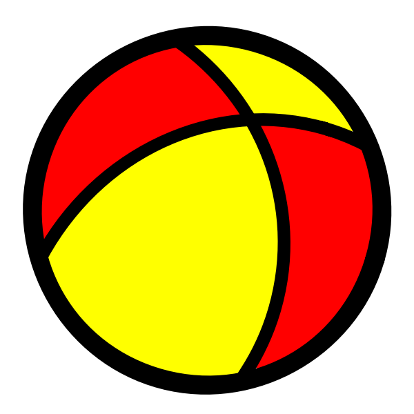 Ball icon vector drawing