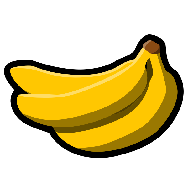 Color sign for banana fruit vector clip art