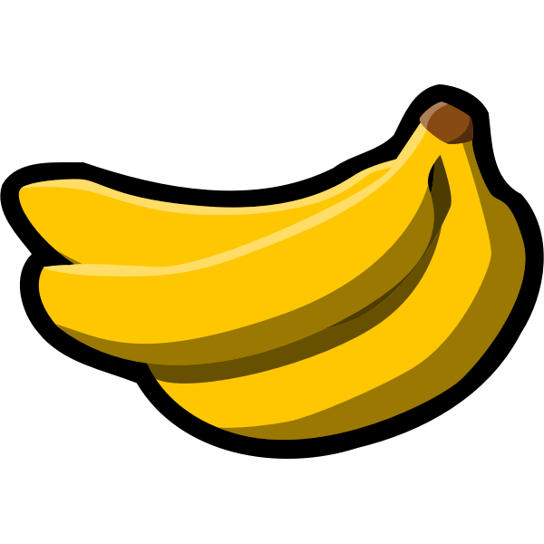 Bunch of bananas icon vector graphics