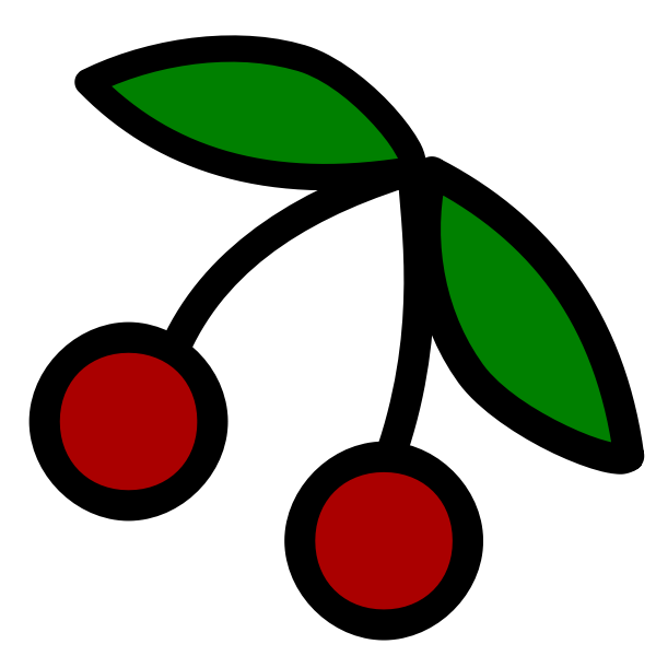 Cherries fruit icon vector drawing