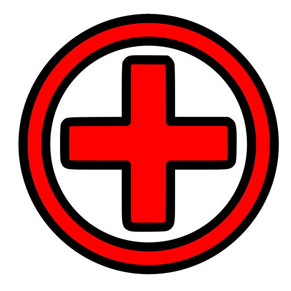 First aid icon vector drawing