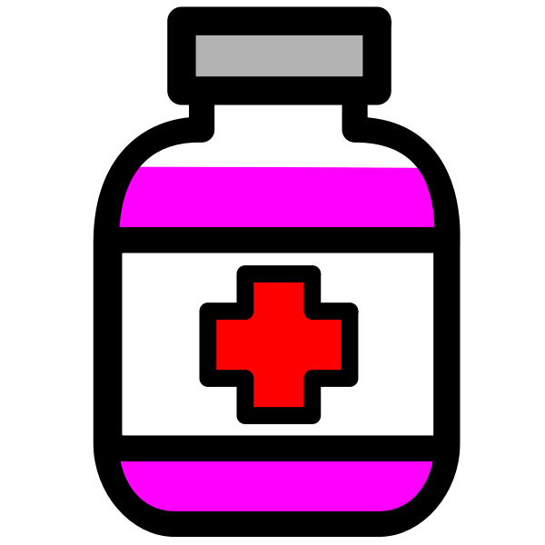 Medicine container vector image
