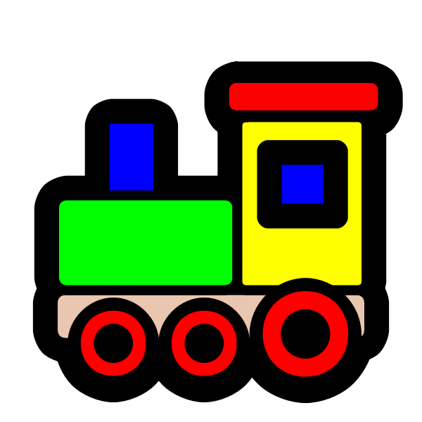 Toy vector illustration of locomotive