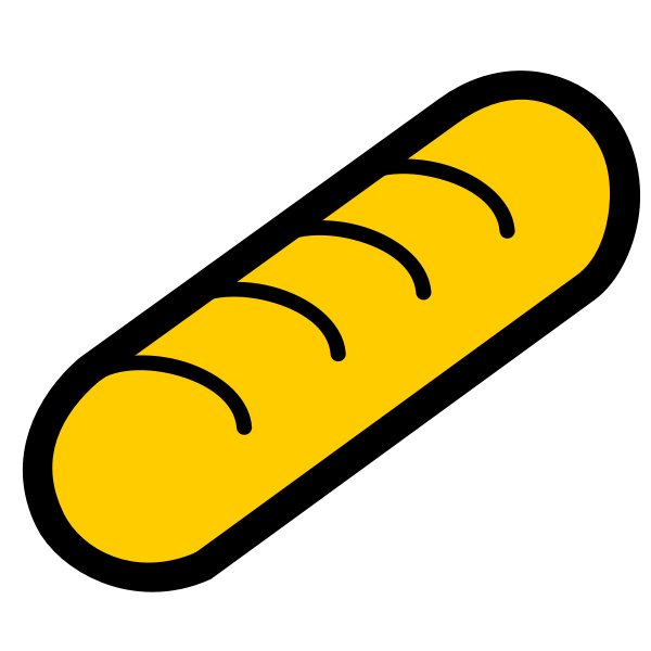 Vector image of baguette icon