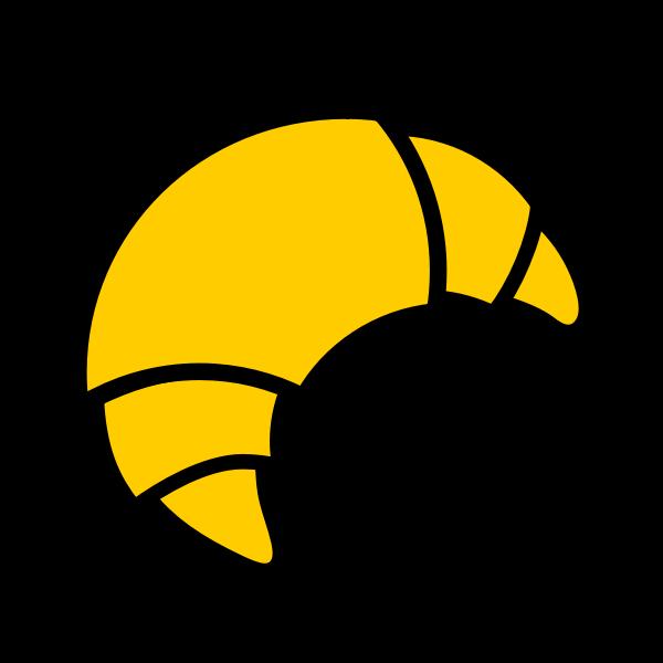 Vector clip art of croissant icon