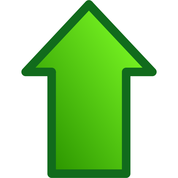 Green arrow pointing up vector image