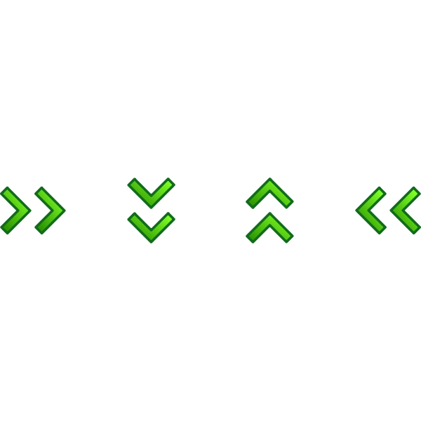 Green double arrows set vector image