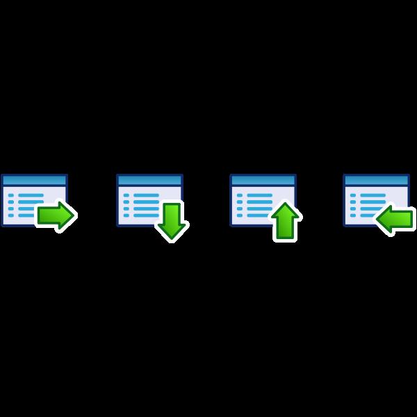 Green menu vector icon set