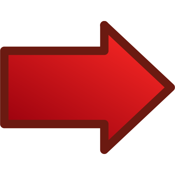 Red arrow pointing right vector image