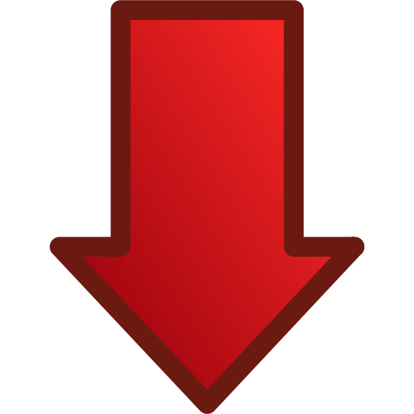 Red arrow pointing down vector image