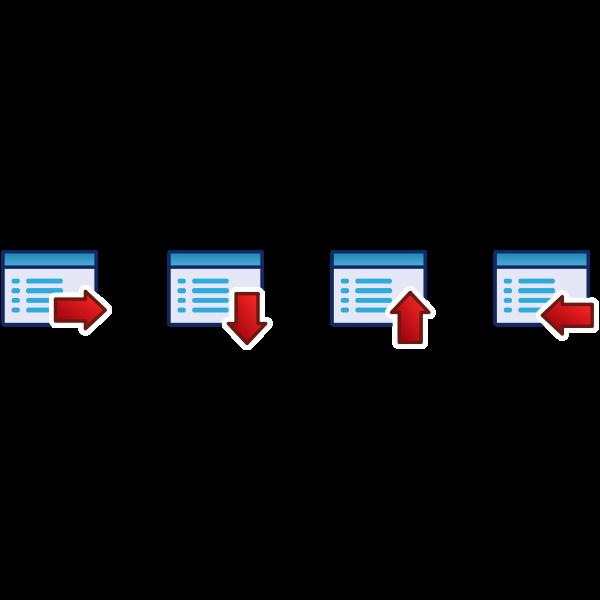 Red menu vector icon set