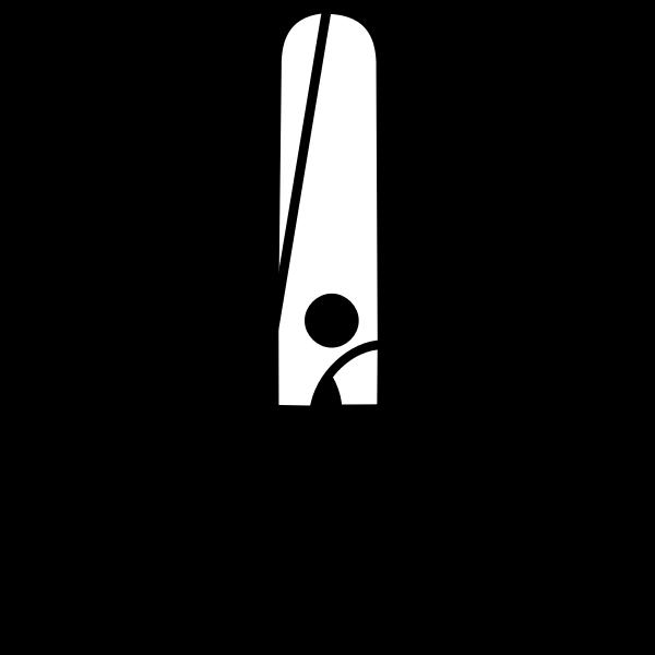Closed scissors vector image