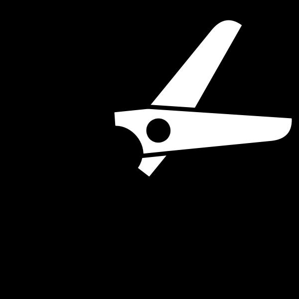 Half-open scissors vector graphics