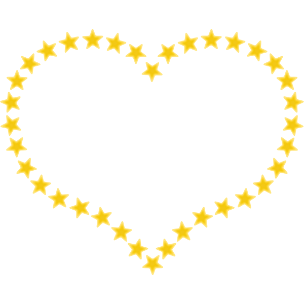Yellow heart vector graphics