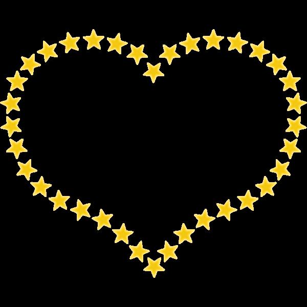 Yellow heart vector graphics