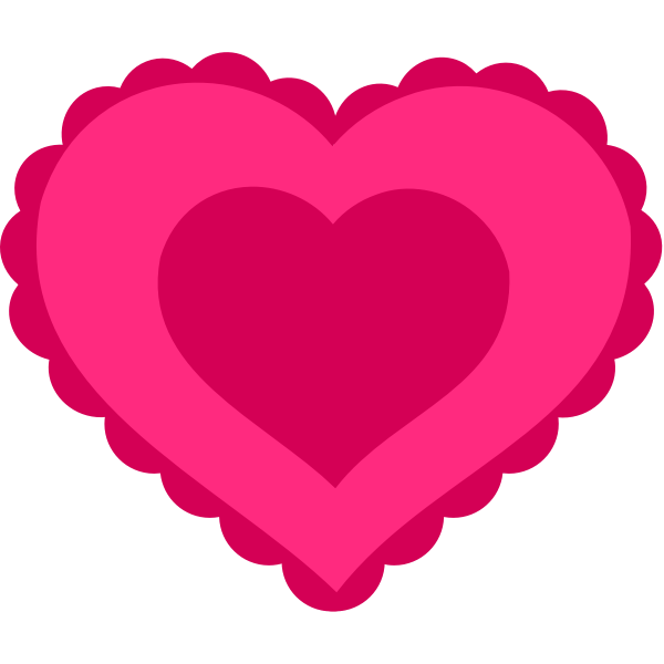 Vector illustration of lacy heart