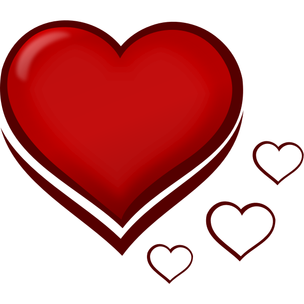 Vector clip art of glossy heart
