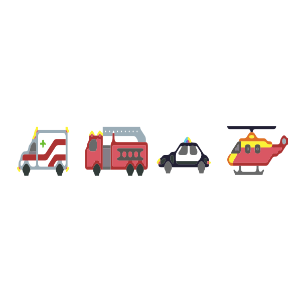 pixel emergency vehicles