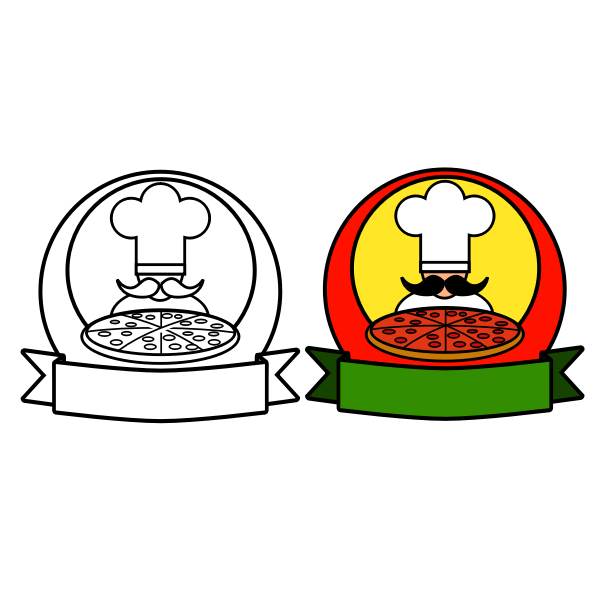 Double pizza logo