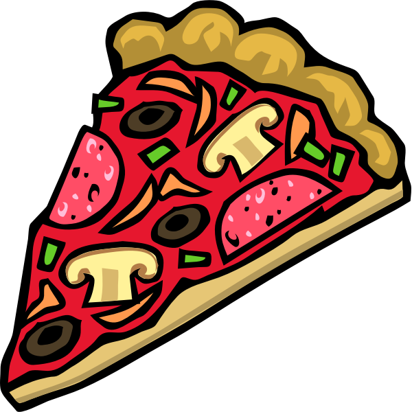 Vector illustration of a pepperoni pizza icon