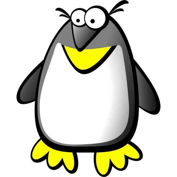 Color cartoon illustration of a tux