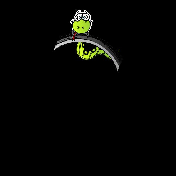 Vector image of caterpillar