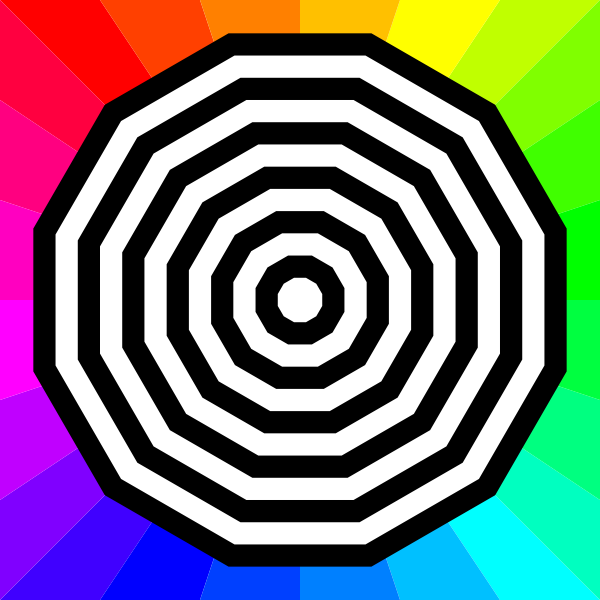 Target on colorful background