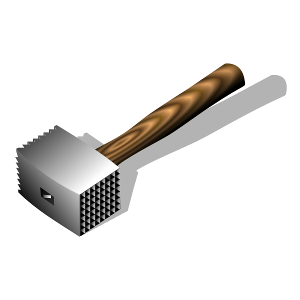 Meat hammer vector image