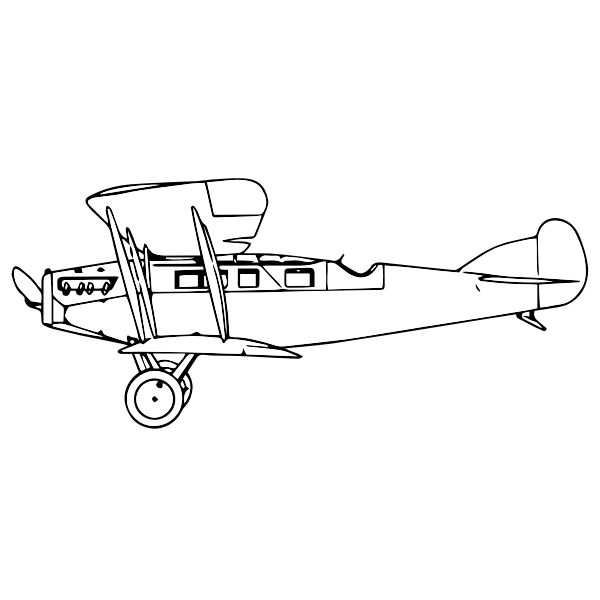 Biplane silhouette art