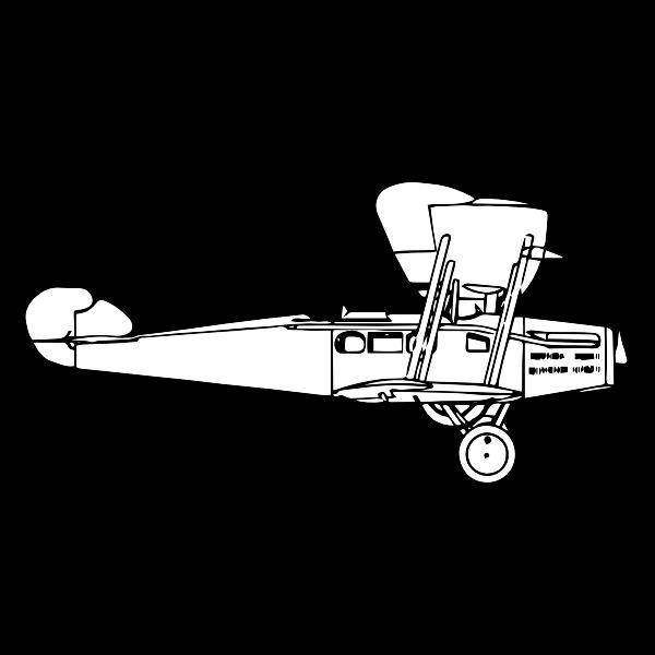 Line Art Airplane Free Svg