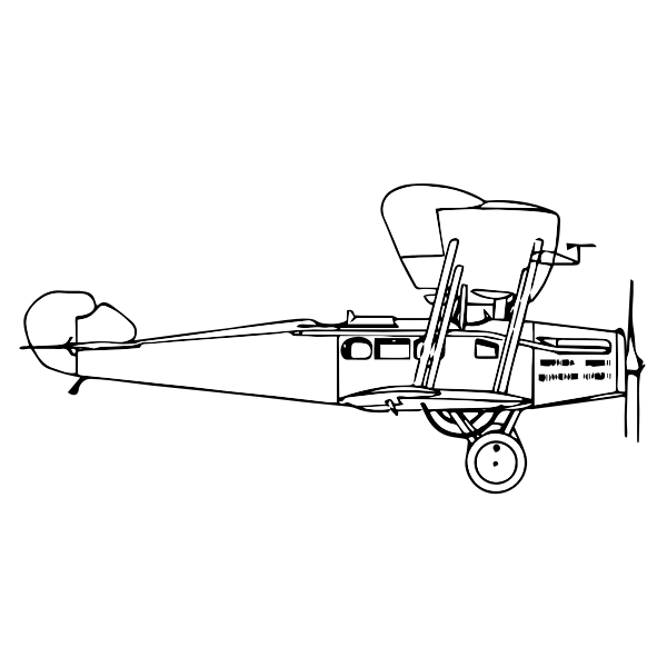 line art airplane